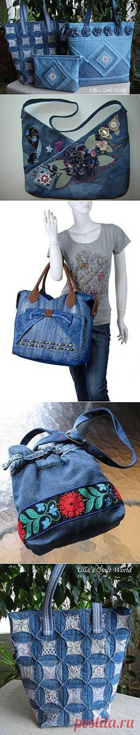 Красивые джинсовые сумки.