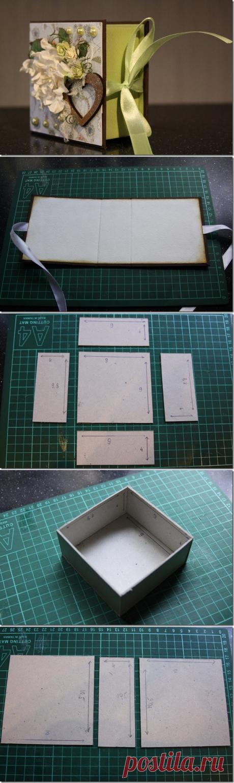 Коробочка в виде книги — Сделай сам, идеи для творчества - DIY Ideas