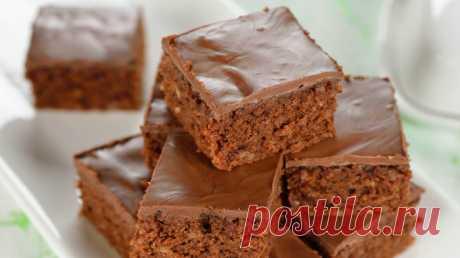 Самые простые ш0коладные пирожные за 15 минут