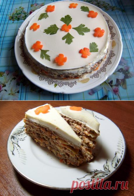 Торт из печени по-новому - Простые рецепты Овкусе.ру