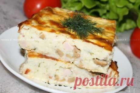 С эти блюдом ты забудешь все, что ты готовила раньше — картофельная запеканка с грибами и ветчиной
