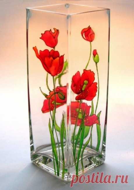 Шаблоны для росписи по стеклу