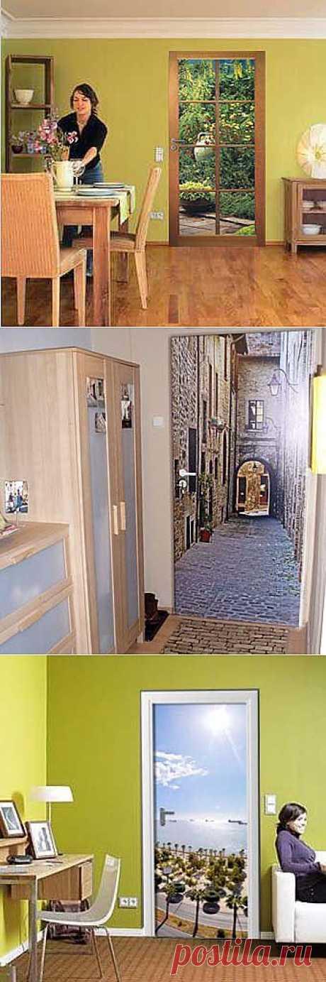 Наклейки на двери: современный дизайн вашей комнаты.