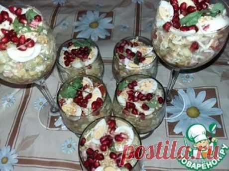 Новогодний закусочный салат - кулинарный рецепт