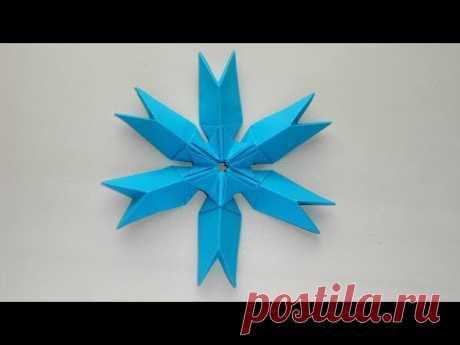 Снежинка из бумаги ❄ Новогодние поделки оригами своими руками - YouTube