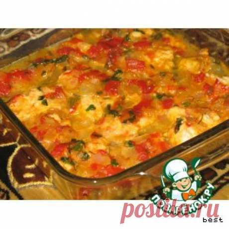 Рыба в томатно-яблочном соусе - кулинарный рецепт