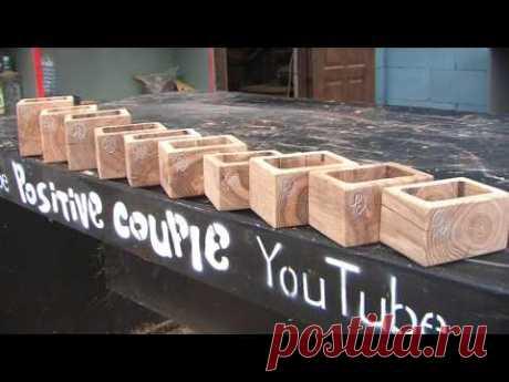 Spice Box. Las cajas para las especias del roble.