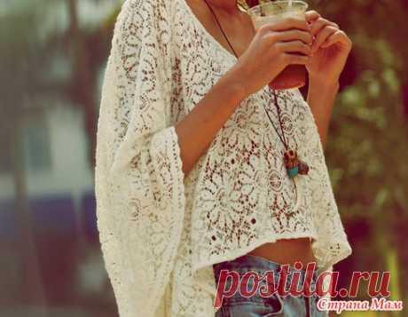Пуловер в стиле Бохо с подборкой схем и небольшим описанием от меня. - Вязание - Страна Мам