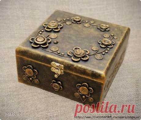 Button art. We decorate a casket\u000a#мк@sweet_podarok