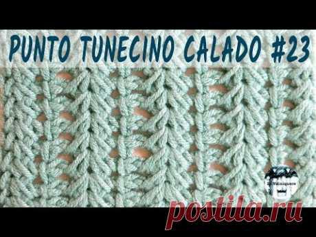 Punto calado tunecino #23 - Crochet tunecino