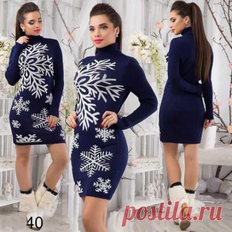 Мини платье снежинка