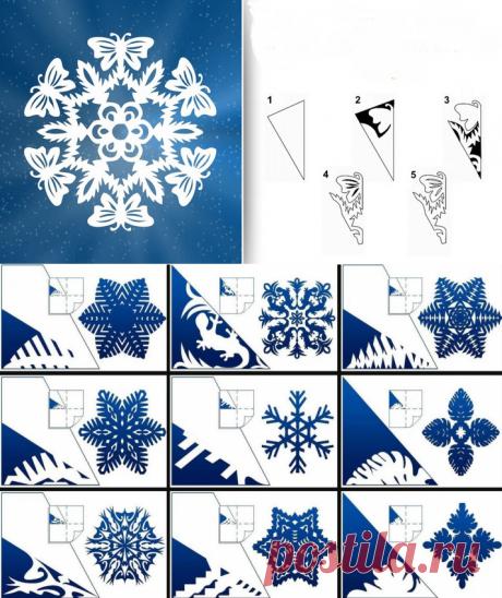 250+ невероятно красивых идей для снежинок из бумаги: трафареты для вырезания!