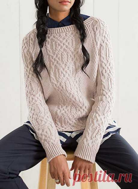 Вязаный спицами пуловер Yarmouth от Mary Anne Benedetto