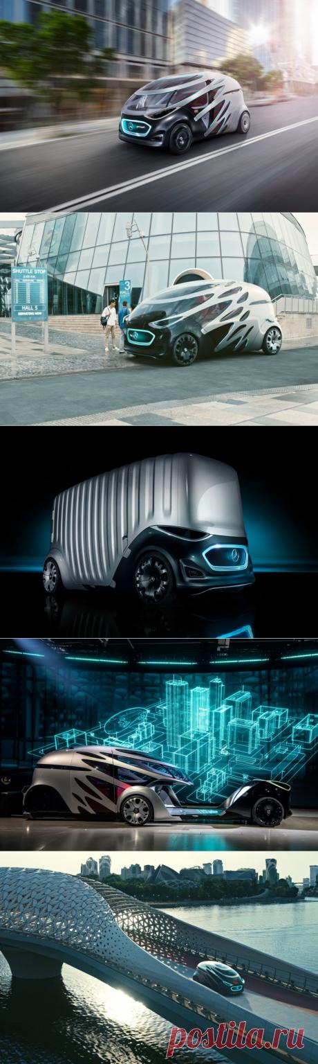 Vision URBANETIC – беспилотный фургон-такси от Mercedes-Benz