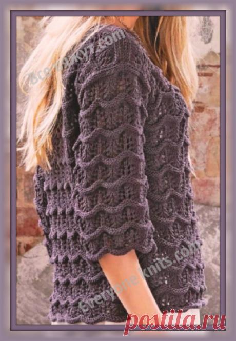 ~Все вяжут.com~ Everyone knits.com~: Женские джемпера и полуверы спицами