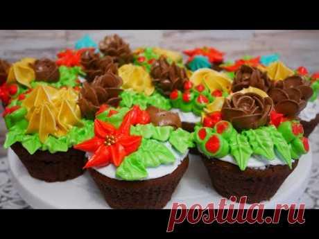 Шоколадные кексы с карамелью. Кексы с кремом внутри. Кремовые шишки из белково заварного крема - YouTube
