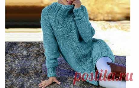 Простой способ связать модное платье с рукавами реглан (описание) | Идеи рукоделия | Яндекс Дзен