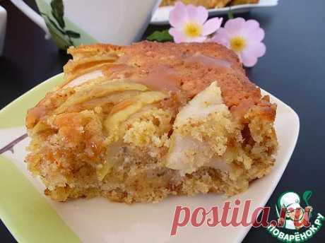 Яблочный кекс с миндалем. Автор: Marioka82