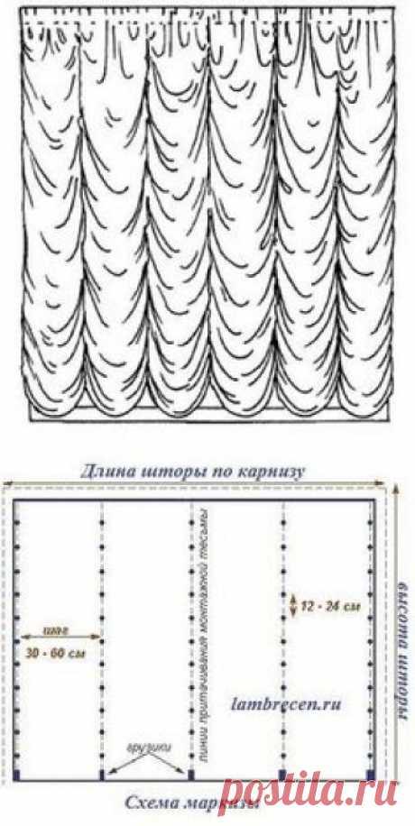 ФРАНЦУЗСКИЕ ШТОРЫ (Шитье и крой) | Журнал Вдохновение Рукодельницы