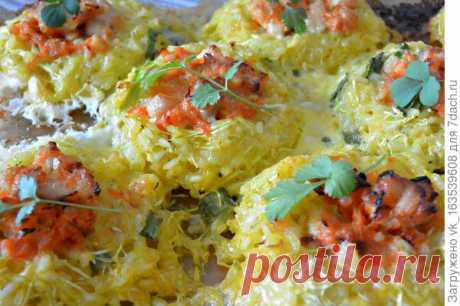 Кабачковые гнезда: запеченные с курицей, рисом и сыром кабачки. Пошаговый рецепт приготовления с фото