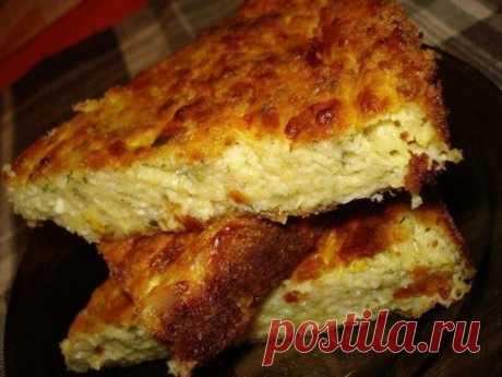 Запеканка из кабачков с зерненым творогом и сыром