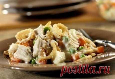 Салат диетический с курицей и грибами — Мегаздоров