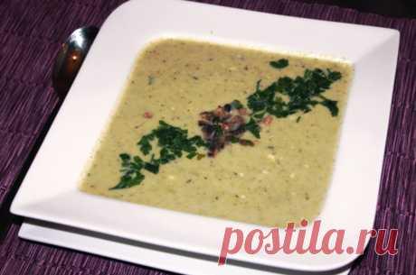 Крем-суп из кабачков и грибов