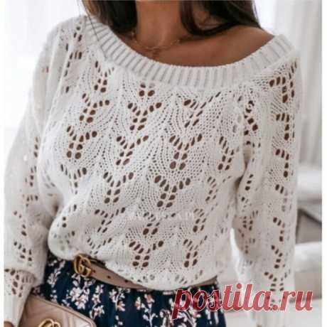 Ажурный узор для летнего пуловера