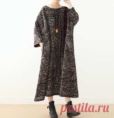 Women Loose fitting dress Long Linen Dress Maxi linen dress | Etsy