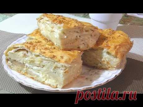 Удивительно вкусный пирог с сыром из лаваша! Любители сыра будут в восторге!