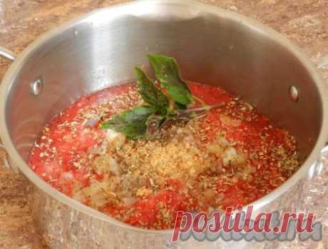 Соус для пиццы из помидоров - 10 пошаговых фото в рецепте