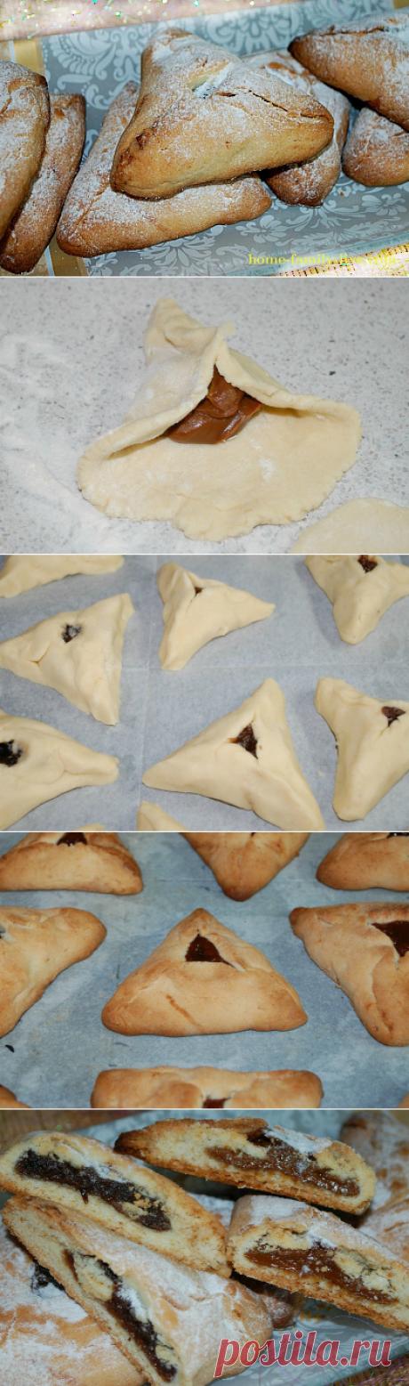 Песочные треугольники с начинкой/Сайт с пошаговыми рецептами с фото для тех кто любит готовить
