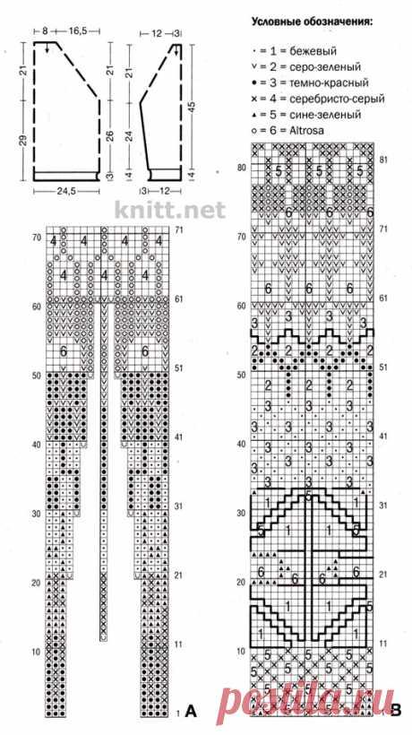 Короткий пуловер с жаккардовым узором