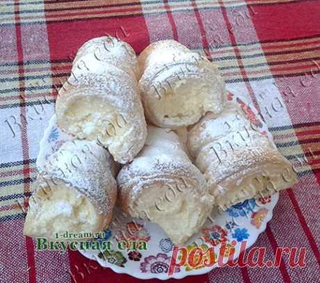 Трубочки из слоеного теста с кремом-рецепт с фото - Вкусная еда