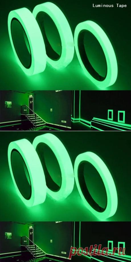 Светящаяся лента 1,5 см * 1 м 12 мм 3 м самоклеящаяся лента Ночное видение светятся в темноте Безопасность Предупреждение безопасности для сцены дома украшения ленты | Светоотражающий материал