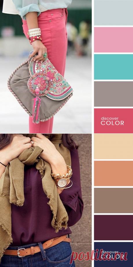 Схемы идеальных цветовых сочетаний