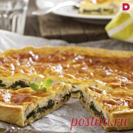 Пирог с сыром сулугуни и зеленым луком, рецепт приготовления