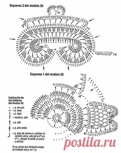Схема салфетки с элементами ирландского кружева