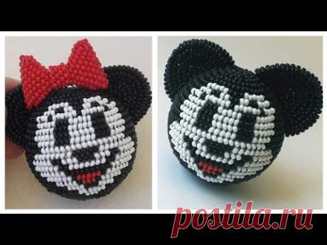 Mickey Mouse and bow for Minnie. Pattern.