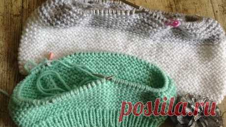 Как вязать платочной вязкой по кругу красиво соединяя ряды !!!!