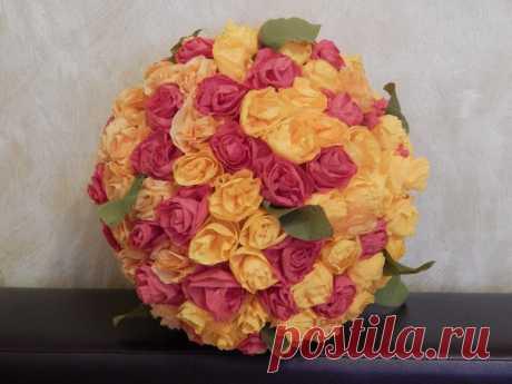 Цветочный шар из крепированной бумаги от Родионцевой Натальи