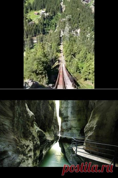 (14) По Швейцарии ч.5 Ущелье Aareschlucht - YouTube