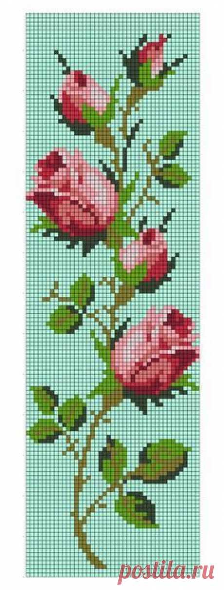 Схема роз для вышивки крестиком бисером