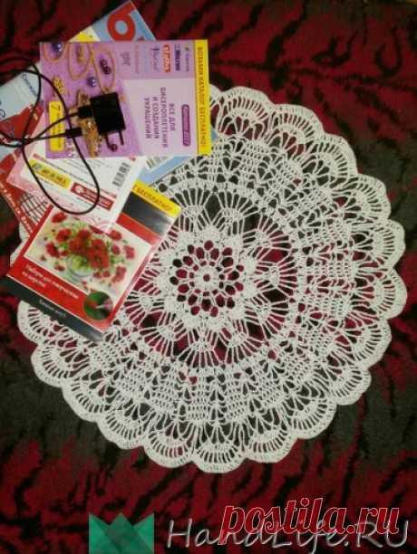 Схема вязания ажурной салфетки. Вязания крючком. / Вязание