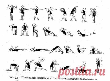 Остеохондроз: зарядка и питание, или как облегчить боль в спине...