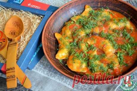 Вареники с картофелем в овощном соусе Кулинарный рецепт