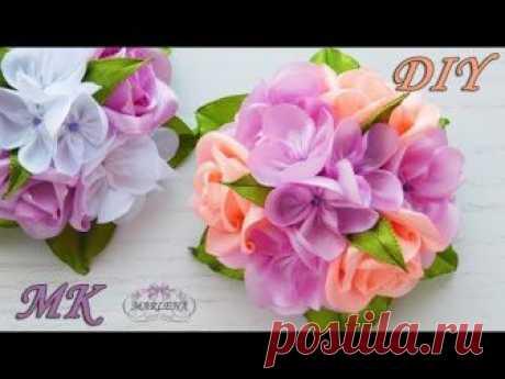 Пошаговый мастер класс 👐 изготовления весенних заколочек с букетиком роз 🌹 и мини цветочками. Композиция красиво будет смотреться на зажиме, заколке, резиноч...