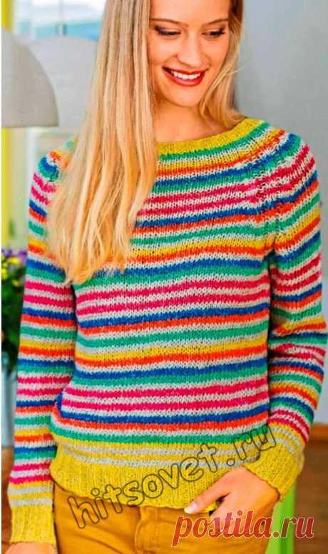 Вязание в технике нукинг пуловера - Хитсовет Вязание в технике нукинг пуловера. Вязание крючком в технике нукинг женского полосатого пуловера с рукавами реглан с пошаговым бесплатным описанием.