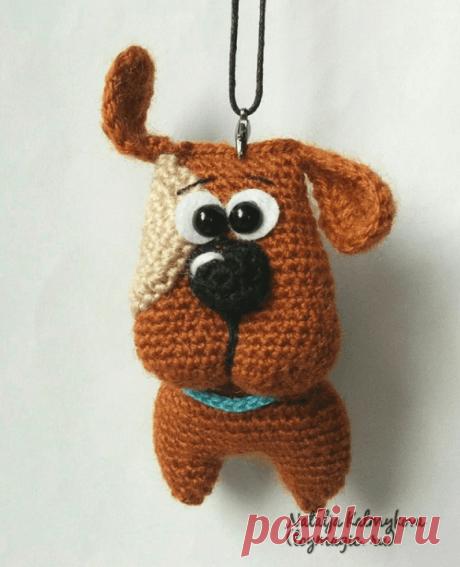 Брелок собачка амигуруми крючком | Hi Amigurumi