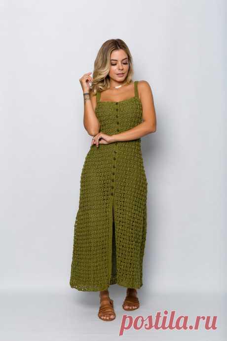 Vestido de Crochê Aberto Militar - Linha Anne - Blog do Bazar Horizonte